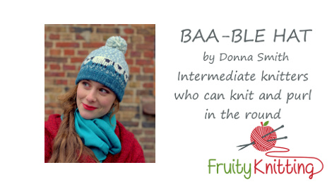 Click on the image to watch the tutorial for the Baa-ble Hat.