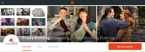 Fruity Knitting Podcast - Patreon page - Click to visit