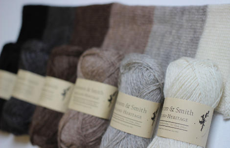 Shetland Heritage Naturals - Using the natural fleece colours