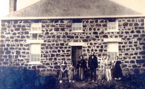 The first Dennis family, around 1840, Tarndwarncoort, Australia
