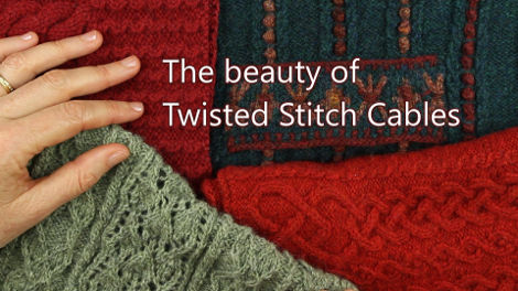 The Beauty of Twisted Stitch Cables Tutorial