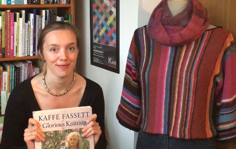 Marthe Sveen Edvardsen and her Kaffe Fassett inspired creations