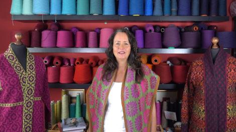 Bärbel Salet in her studio