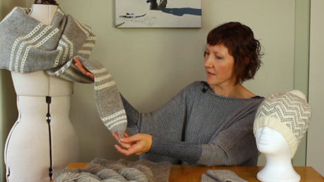 Donna Smith, with her Langsoond Yarn
