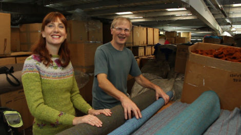 Brian is the head weaver at Jamieson's of Shetland