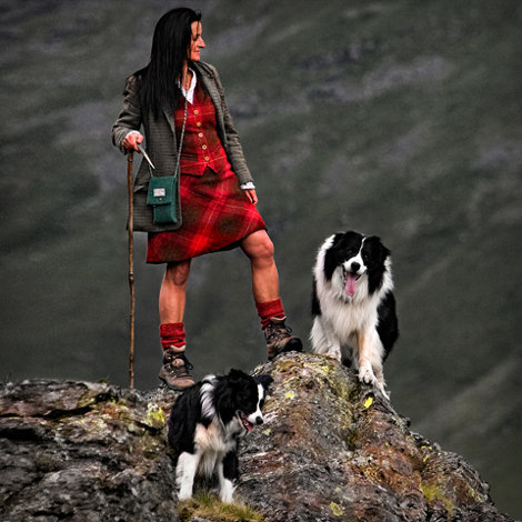 Alison O'Neill, shepherdess and clothing designer