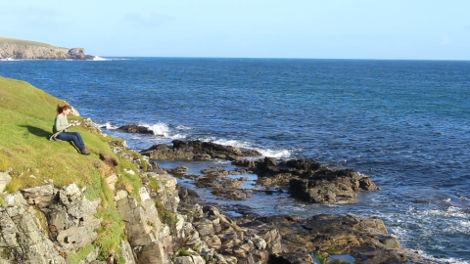 Andrea on Bressay, Shetland