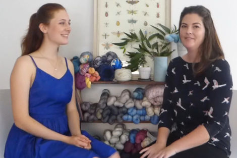 Hannah from Circus Tonic Handmade, with our roving reporter Madeleine