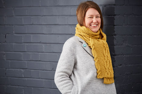 Yellow Wagtail Scarf by Sarah Hatton - the November project in A Year of Techniques