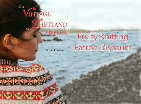 Patron discount on all Vintage Shetland yarn kits