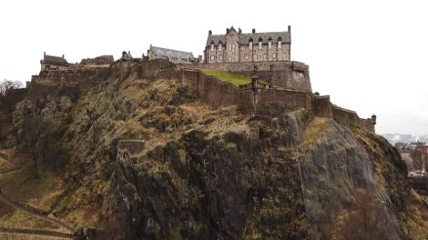 "Edinburgh Castle sits on the top of an extinct volcano. The name Edinburgh actually means ""castle on the hill"""