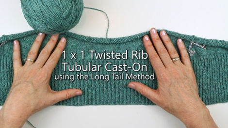 Twisted Rib Tubular Cast-On using the Long Tail Method