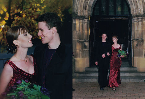 Our wedding, at Trinity College Chapel, Melbourne University.
