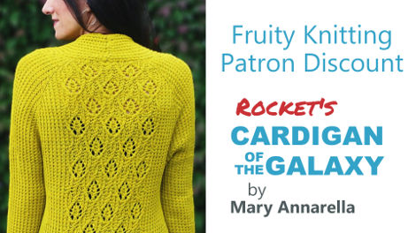 Rocket's Cardigan of the Galaxy, by Mary Annarella