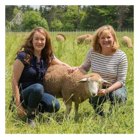 Jennifer and Kim of Fleece & Harmony on their Prince Edward Island property