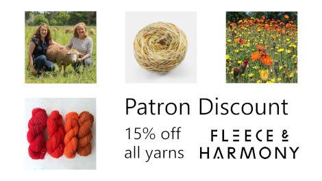 Patron discount from Fleece & Harmony!