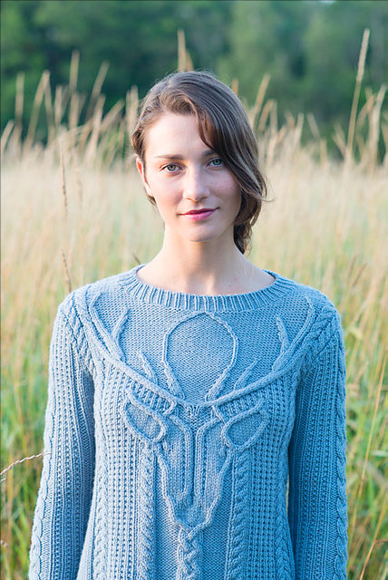 Stag Head pullover by Norah Gaughan