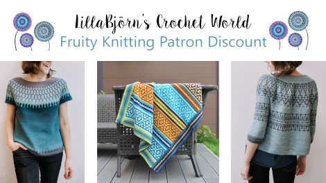 Tatsiana is offering Fruity Knitting Patrons a 25 percent discount on all of her self-published patterns.