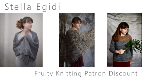Fruity Knitting Patrons get 25 percent off all self-published patterns