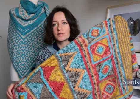 Tatsiana also has blanket crochet designs that include cables and mosaic colour work.