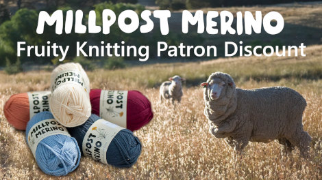 Millpost Merino Fruity Knitting Patron Discount